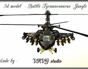 Fantasy Military Helicopter - Battle 3D model 2