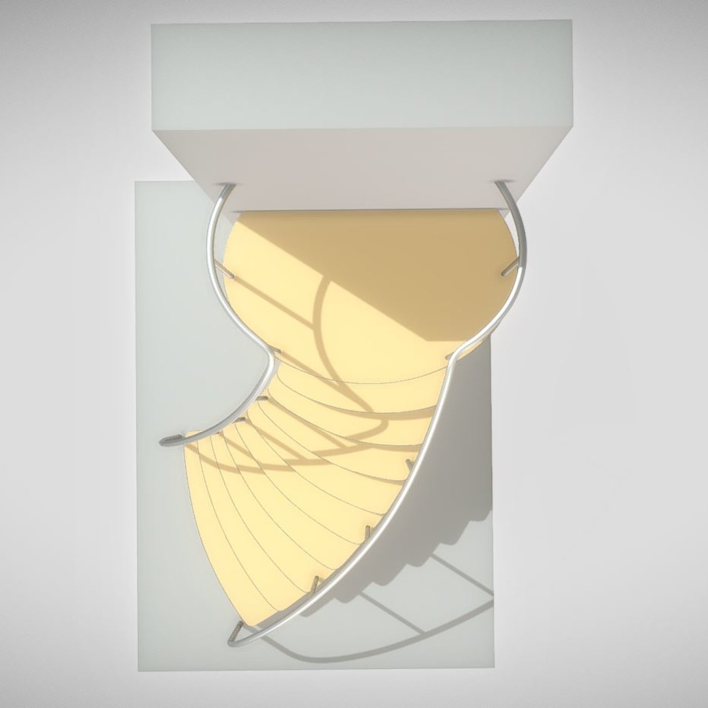 Spiral Staircase High-Poly Version 1