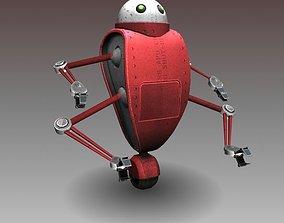 3D model rigged Cartoon robot