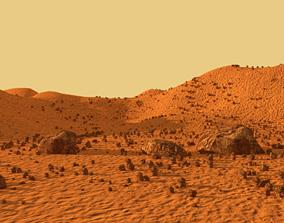 3D asset planet mars outdoors