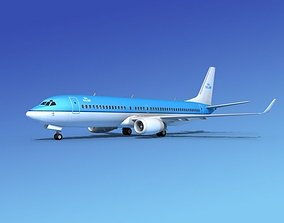 Boeing 737-800 KLM 3D model