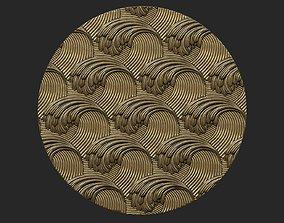 Wave relief 3D print model