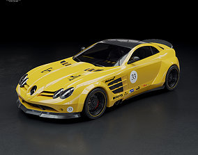 Mercedes SLR McLaren and body kit 3D