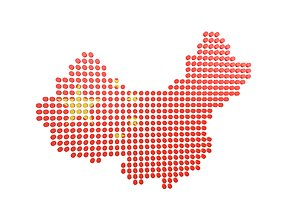 China Map Round Style v1 001 3D asset