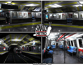 3D asset Snail Metro - Low Poly Metro Underground Station