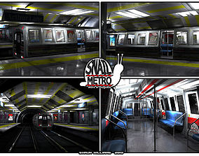 Snail Metro - Low Poly Metro Underground Station 3D asset