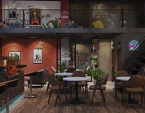 Coffee tradition interior 3D model