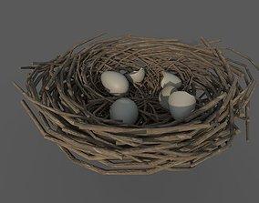 3D model VR / AR ready Bird Nest