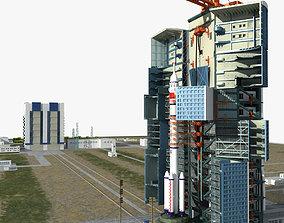3D Launch Center and CZ-2F Rocket