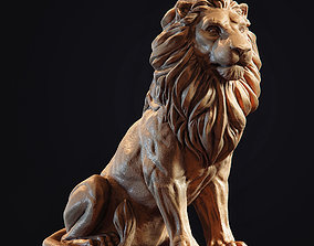 figurine Lion Sculpture 3d print model