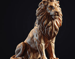 monument figurines Lion Sculpture 3d print model