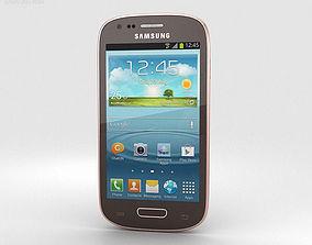 3D Samsung Galaxy S III Mini Amber Brown
