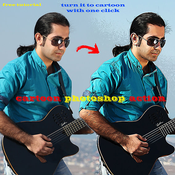 Photoshop Action Turn it to cartoon