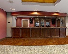 3D Interior lobby hall elevator hall
