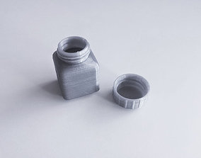 3D printable model small Bottle and Screw Cap