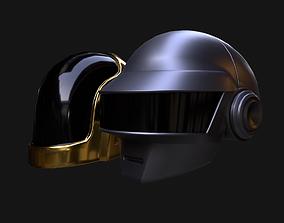 Pbr Daft punk Helmets 3D asset