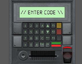 Access Control Panel 3D asset