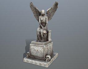 3D model low-poly statue 3