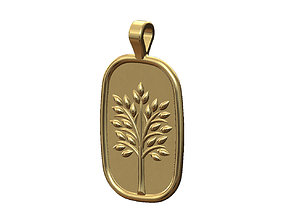 3D print model Tree of life relief pendant and