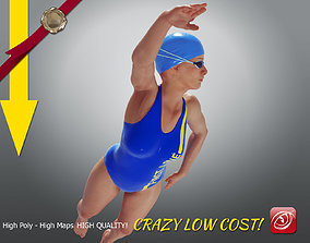 SwimmingpoolgirlCCrawl P4 3D model