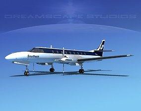 3D model Swearingen SA226 Southern Airways
