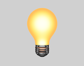 3D asset realtime Light bulb shining