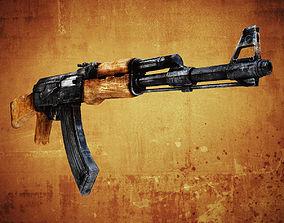 3D asset AK47 Assault rifle low poly