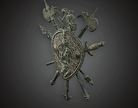 Coat of Arms - MVL - PBR Game Ready 3D asset