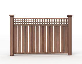realistic Fence Wood 3D model