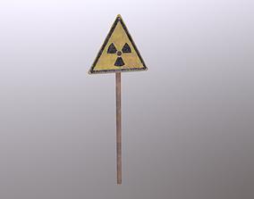 3D model Radiation Sign