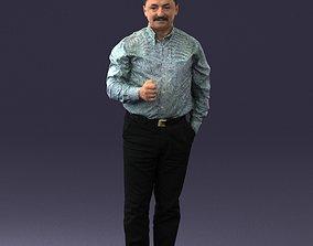 Mustachioed man shirt 0634 3D Print Ready mustachioed