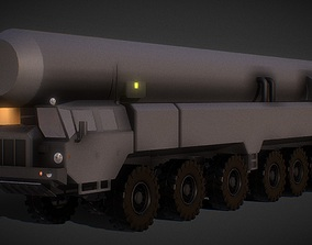 realtime Truck with ballistic Nucler Warhead 3D