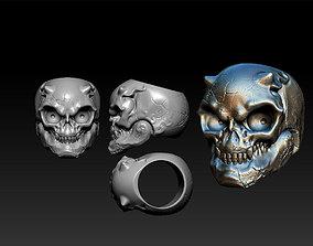 skull Skull Ring 3D printable model