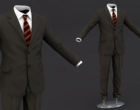 Suit men 3D Model Clothing tie