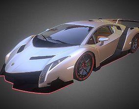 VR / AR ready Lamborghini Veneno dae obj 3ds fbx 3d 1