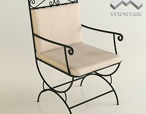 3D Wrought Iron Chair seamless