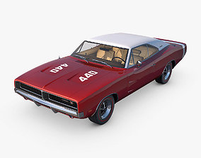 3D model 1969 Dodge Charger RT 440