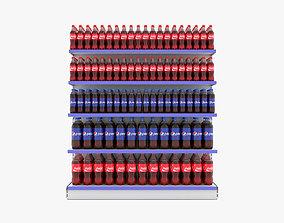 Supermarket Beverage Single Shelf 3D