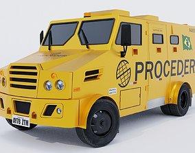 Bank Armored Car 3D asset low-poly