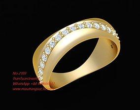 2103 Diamond Ring New Design 3D printable model