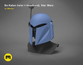 3D printable model Bo-Katan Helm and Headband Star Wars