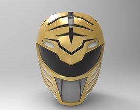 3D print model White Ranger Helmet from MMPR