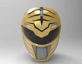 3D print model White Ranger Helmet from MMPR