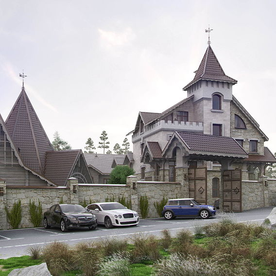 Hotel and SPA in pine wood