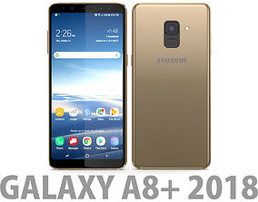 Samsung Galaxy A8 Plus 2018 Gold 3D model
