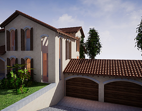 SHC Spanish Modern House 4 Without Furniture 3D model