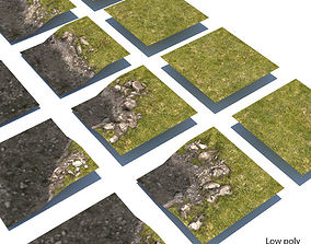 3D model River Lake terrain modules