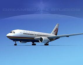 3D model Boeing 767-200ER Trans World 2