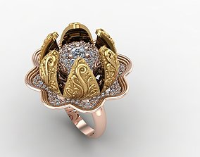 moving jewelry ring 3D printable model