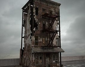 destroyed building 084 am165 3D model